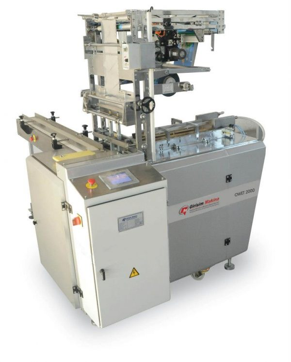 OWET 2000 is the ideal overwrapping box packaging machine used in a wide variety of industries including food, chemical, tobacco, cosmetics, cleaning.